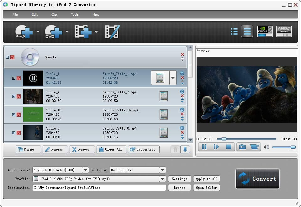 Tipard Blu-ray to iPad 2 Converter 7.0.02 full