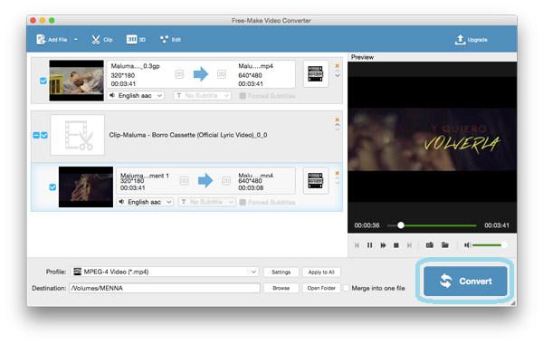 Konverter video / lyd