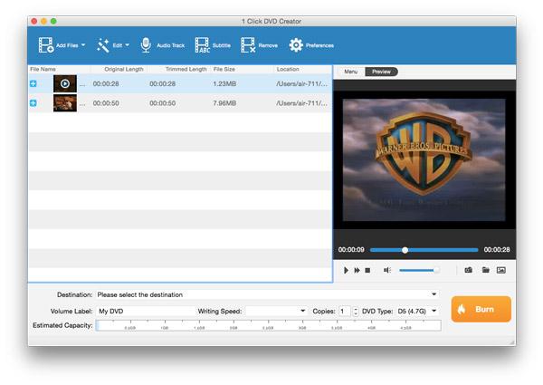 Fájl hozzáadása a DVD-készítőhöz