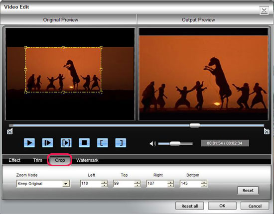 How to Rip BD/ DVD and Convert Video to DivX, MP4, AVI, 3GP, MPEG, FLV, etc. Crop