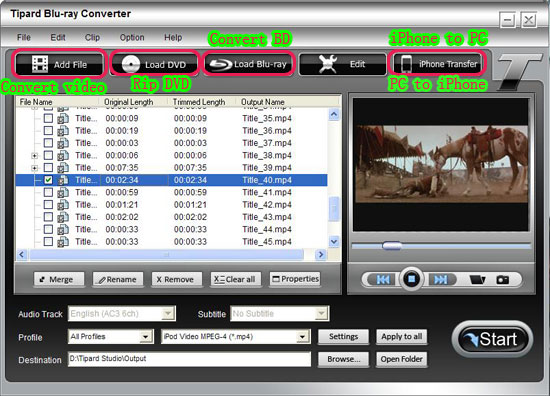 How to Rip BD/ DVD and Convert Video to DivX, MP4, AVI, 3GP, MPEG, FLV, etc. Dvd