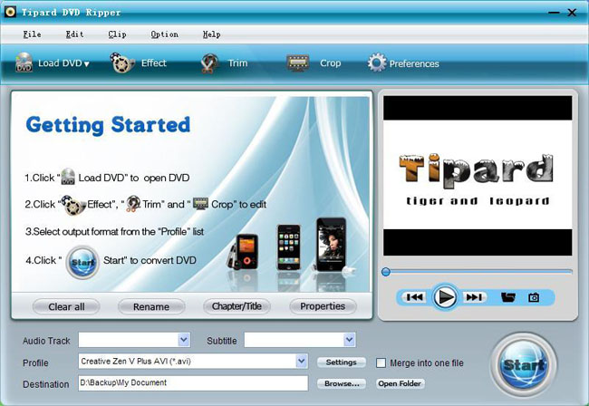 A Professional Piece of Software to Rip DVD and Convert Video Dvd-ripper-interface