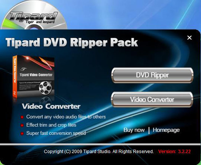 A Professional Piece of Software to Rip DVD and Convert Video Interface