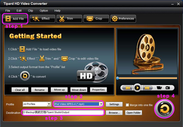 How to Convert HD Video Between HD and Standard Video on Mac/Windows Interface