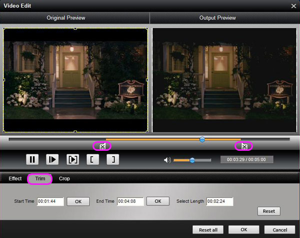 How to Convert HD Video Between HD and Standard Video on Mac/Windows Trim