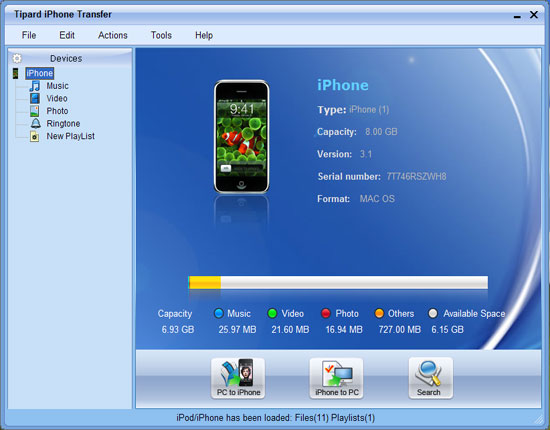 How to Transfer DVD, Video, Audio and Picture Between iPod/iPhone and PC and iTune Main