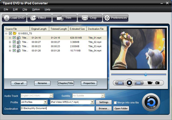 How to Make Full Use of Your iPod on Mac/Windows Dvd-to-ipod-converter
