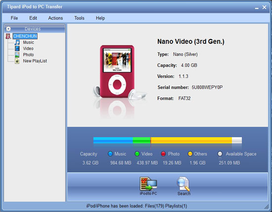 How to Easily Transfer Video/Music/Picture From iPod/iPhone to PC on Windows/Mac Main