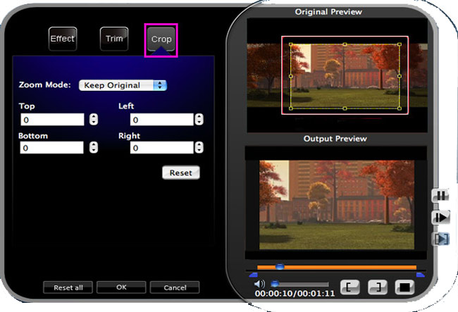 How to Convert HD Video Between HD and Standard Video on Mac/Windows Crop