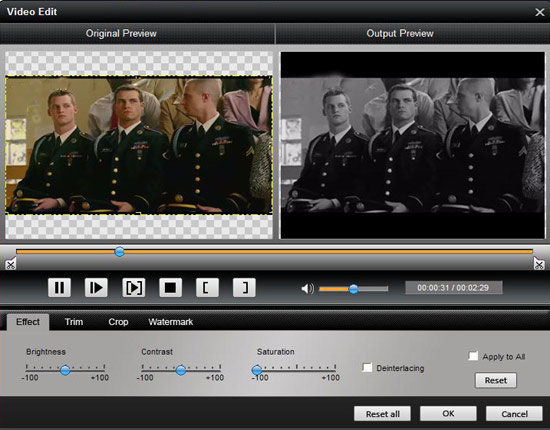 Easy Conversion between Popular Video Formats Effect-1