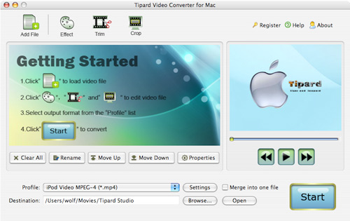 How to convert Mod/Tod/AVI/WMV/RM to any video formats Import-mac