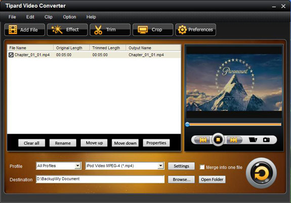 How to Convert Video to AVI/MP4/MPG/MOD/MOV/MKV/WMV/DivX/XviD Interface