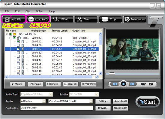 Easily and Fastly Rip and Convert DVD and Video With Total Media Converter Interface