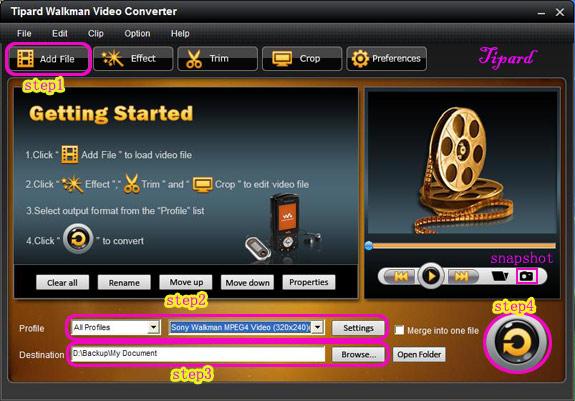 Fully Enjoy Video and Audio on Sony Walkman Interface