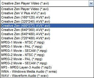 Enjoy DVD and Video on Creative Zen and Quicktime (Windows/Mac) Profile