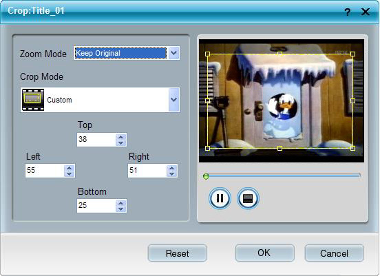 How to Rip DVD and Convert Mod/Tod to popular formats with one tool Crop