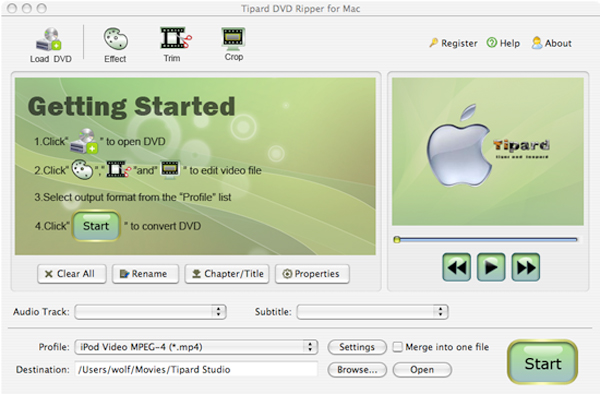 How to Rip DVD and Convert video on OS X Main