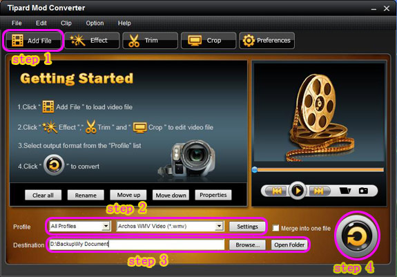 How to Rip DVD and Convert Mod/Tod to popular formats with one tool Main
