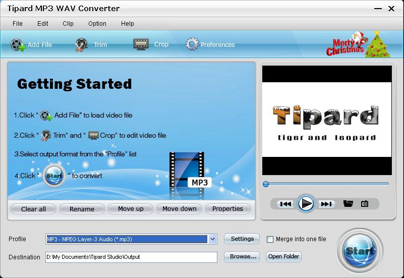 Convert MP3 to WAV, WAV to MP3.