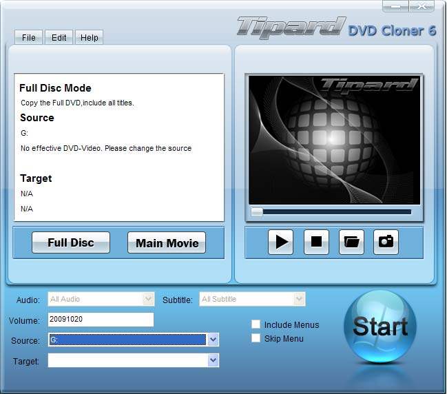 Tipard DVD Cloner 6 screenshot