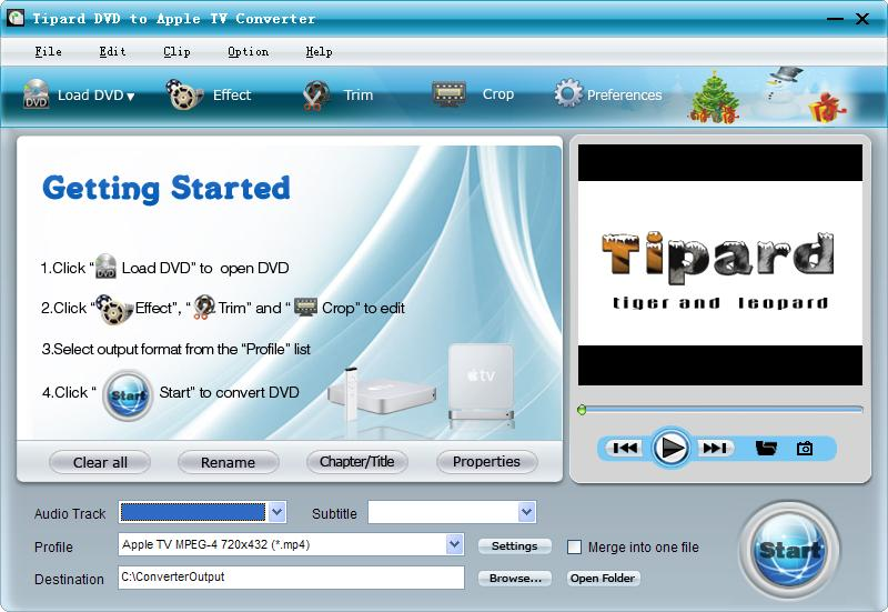 Tipard DVD to Apple TV Converter screenshot