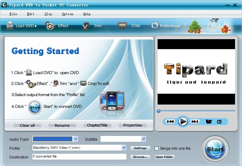 Tipard DVD to Pocket PC Converter Screen shot