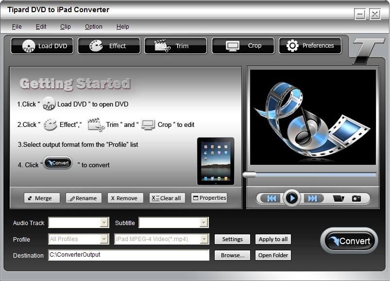 Tipard DVD to iPad Converter 6.1.30