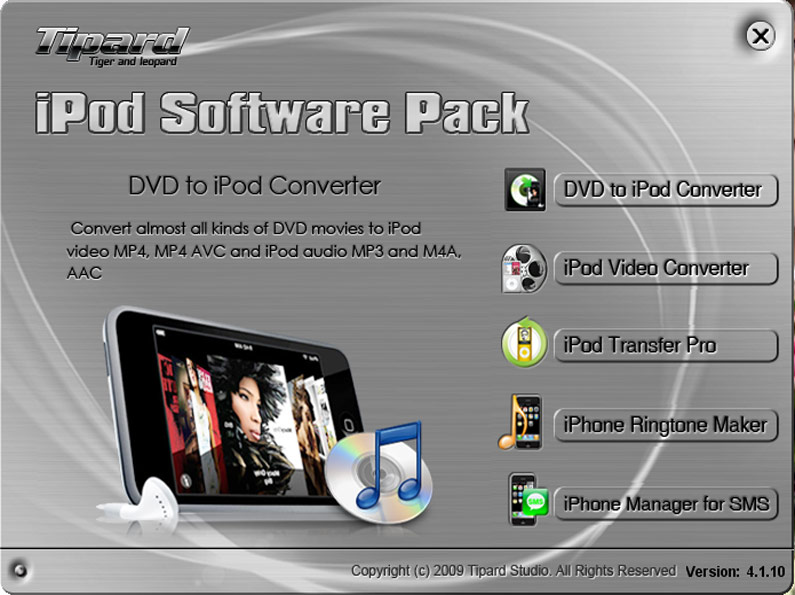 Tipard iPod Software Pack 4.1.30