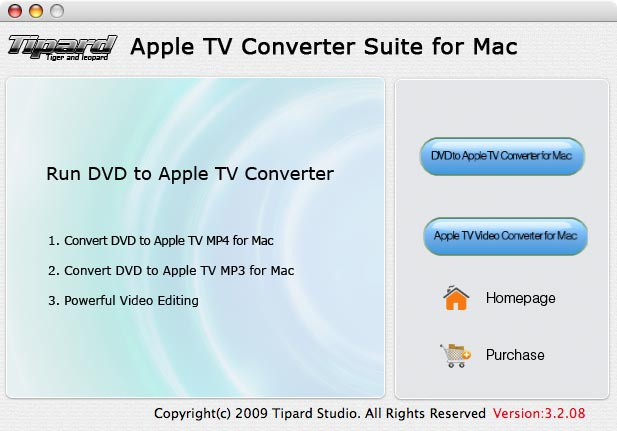 Tipard Apple TV Converter Suite for Mac Screen shot