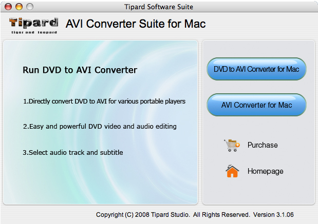 Tipard AVI Converter Suite for Mac 3.1.06