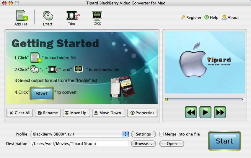 Tipard BlackBerry VideoConverter for Mac 3.1.18