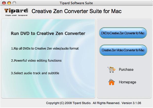 Tipard Mac Creative Zen Converter Suite