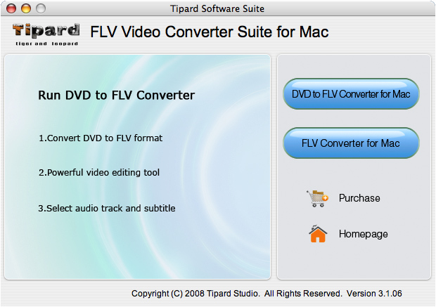 Tipard FLV Video Converter Suite for Mac screenshot