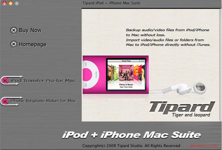 It can transfer between iPod/iPhone and Mac.