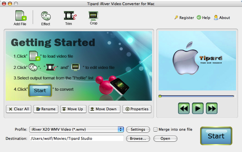 Tipard iRiver Video Converter for Mac