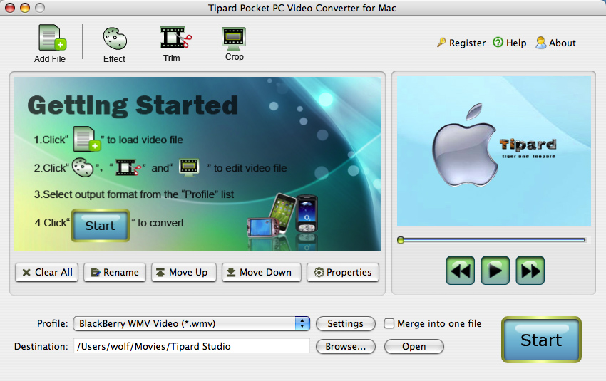 convert video for Pocket PC Mac