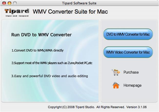 Convert DVD and videos to WMV on Mac.