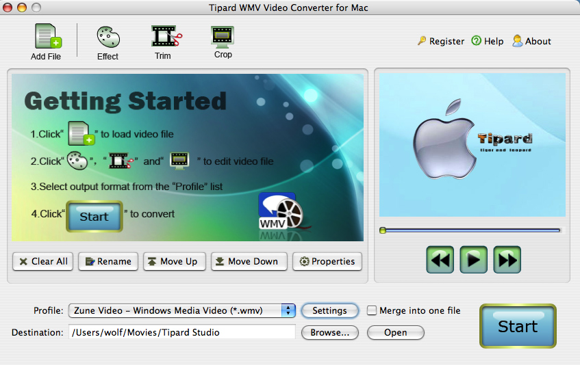 Tipard WMV Video Converter for Mac 3.1.32