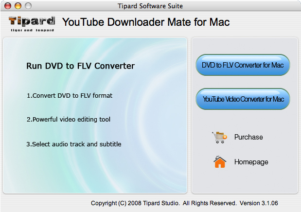 Tipard YouTube Downloader Mate for Mac Screen shot