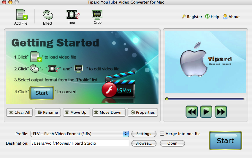 Tipard YouTube Video Converter for Mac Screen shot