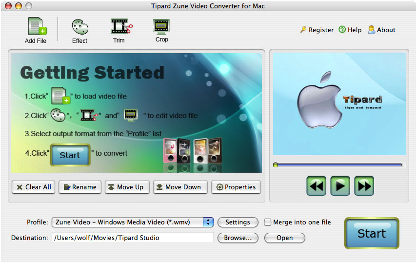 Tipard Zune Video Converter for Mac 3.6.06 full