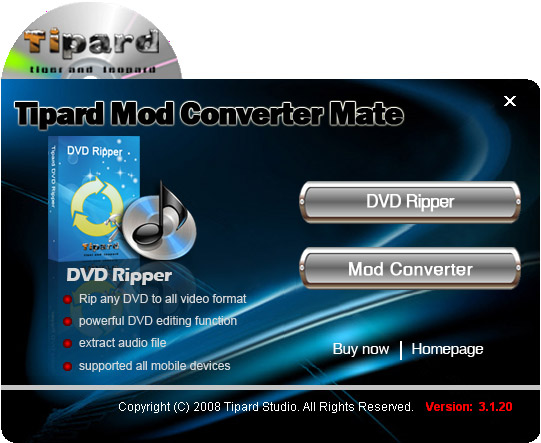 How to Rip DVD and Convert Mod/Tod to popular formats with one tool Mod-converter-mate