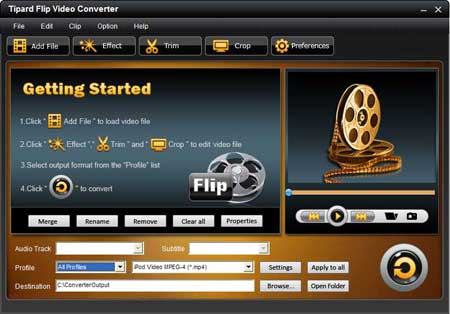 Tipard Flip Video Converter  - Flip Video Converter, Flip Converter, convert Flip video, Flip video Mino conver - easily convert any video created by all the Flip series to any other video/audio