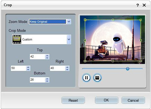 How to Convert Video to Any Video Formats Crop-windows