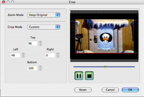 How to convert Mod/Tod/AVI/WMV/RM to any video formats Video-converter-for-mac-crop