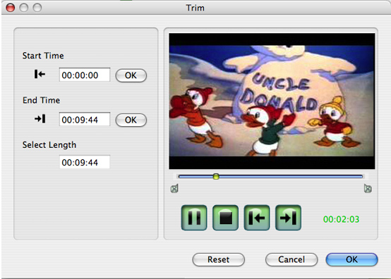 How to convert Mod/Tod/AVI/WMV/RM to any video formats Video-converter-for-mac-trim