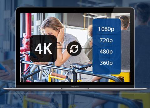 Konverter 4K til 4K, 1080P