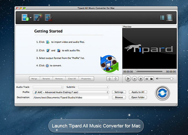 Tipard All Music Converter for Mac Screen shot