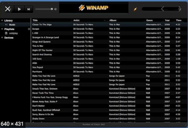 برنامج Winamp