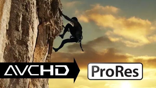 Převést soubory avchd / mts / m2ts na prores
